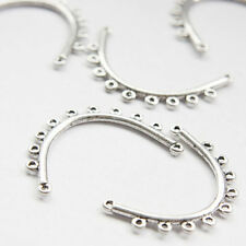 10 Pieces Oxidized Silver Base Metal Earring Findings - 39x26mm (26353Y-O-188A)