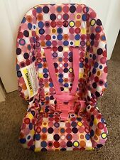 Joovy Pink Polka Dot Realistic Size Doll Car Seat w/ Seat Belt Straps