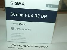 Sigma 56mm F1.4 DC DN NEW Contemporary Lens for SONY E cameras in FACTORY BOX