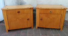2 antike Nachttischchen um 1920/30 helles Holz Nachtisch