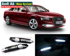 New LED Daytime Running Light For Audi A6 A6L C6 DRL Fog Driving Lamp 2005 2008