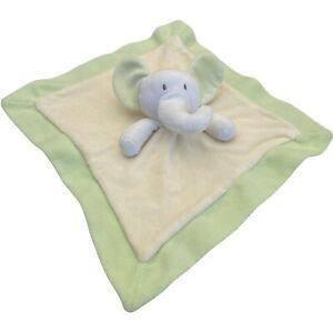 White Elephant Baby Lovey Security Blanket Comforter Plush Toy Sewn Eyes