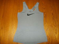 NIKE PRO DRI-FIT GRAY RACER BACK TANK TOP WOMENS MEDIUM EXCELLENT