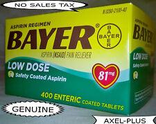 Bayer Low Dose Aspirin Regimen - 400 Tablets 81 mg enteric coated EXP 09/2020