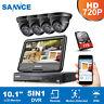 SANNCE 1080N LCD Monitor 4CH DVR 1500TVL IR Security Camera System Email Alarm