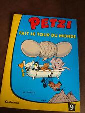 PETZI fait le tour du monde n°9 hansen casterman  1961
