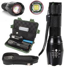 8000LM T6 LED Linterna Antorcha Luz Zoom Flashlight+18650+Cargador+Caja+Funda