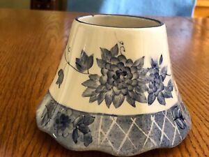 Yankee Candle Blue & White Candle Shade
