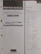 SANSUI CR-M7 cassette/Récepteur service repair workshop manual (original)