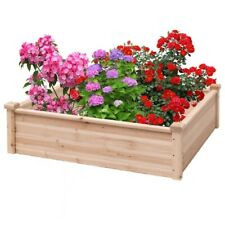 New Wooden Square Garden Vegetable Planter Bed Flowers Herbs