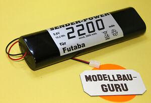 Senderakku für Futaba 2200 mAh 9,6 V  F FC F-14 FC 16  FC 28 FC 18V3 Sub-C Akku