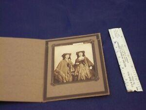 VINTAGE BLACK AND WHITE PHOTO TWO WOMEN IN STRANGE GARB