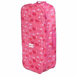 Doll Travel Case Suitcase Storage Carrier Bag fits all 18 Inch Dolls