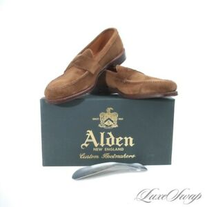 NIB #1 MENSWEAR Alden Made in USA 6243F Snuff Suede Unlined Loafers Shoes 11 NR