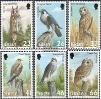 GB-Jersey 987-992 (kompl.Ausg.) gestempelt 2001 Raubvögel