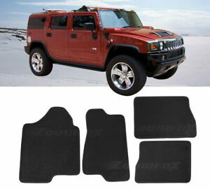 4 Pcs OE Black Trim Front Rear Nylon Carpets Floor Mats For 03-09 Hummer H2