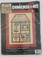 """DIMENSIONS Counted Cross Stitch Tweetest Home Tweet 3154 Stamped 12x16"""""""