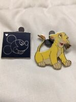 2002 Lion King Young Simba Walt Disney Collector's Trading Pin & Hidden Mickey