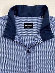 "Giorgio Armani Collarless Slim Fit Shirt  Sz.43-17"" Immaculate condition"