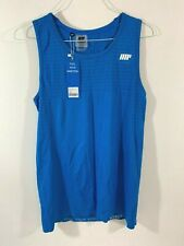 My Protein Mens seamless Tank Top- Blue