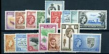 British solomon islands 1956 defin set fine Mint 2s and 2/6 MLH others MNH