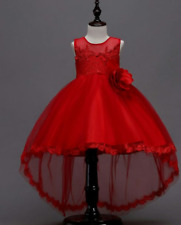 DN0128- New Model Of Elegant & Lovely Cocktail/Gown For Kids Ages 7-8 - Red