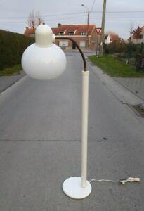 MID CENTURY VINTAGE WHITE FLOOR LAMP GERMANY SPACE AGE PLEXI PERSPEX FLEXIBLE