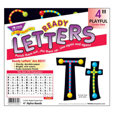 Alpha-Beads 4-Inch Combo Classroom Display Ready Letters - 216 Characters