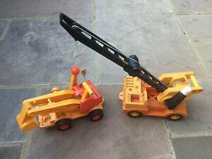 Fisher Price Husky Helpers Boom Crane 314 (80's ERA) ONLY NO DIGGER