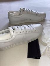 Prada Sneaker Gr. 11 weiß 45 Leder Herrenschuhe Schuhe Sneakers Schnürschuh NEU
