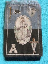 1910's Cigarette Tobacco Felt Rug w/Fringe - Army (West Point)