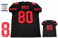 Jerry Rice Autographed SIGNED Jersey - Beckett Witnessed Authentic - Black