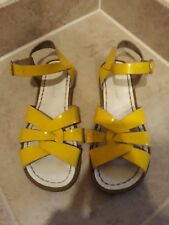 Saltwater Sandals Patent Leather Yellow Size 6