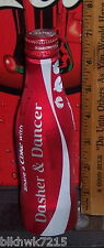 2015 COCA COLA SHARE A COKE WITH DASHER & DANCER 8.5 OZ ALUMINUM BOTTLE CAN FULL