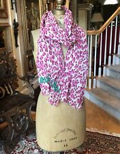 New w/Box LOUIS VUITTON Monogram Pink JUNGLE LEOPARD 100% Cotton Pareo Scarf