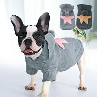 Hoodie Dog Sweater for Small Dogs Cat Soft Knitted Jumper French Bulldog Clothes