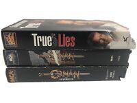 Conan the Barbarian, Conan The Destroyer, True Lies LOT OF 3 VHS SCHWARZENEGGER