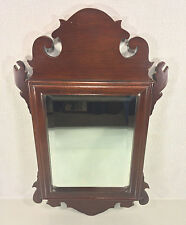 Vintage Chippendale Style Mirror with Beveled Glass Made in NC