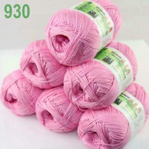 Sale Lot 6SkeinsX50g Soft Bamboo Cotton Baby Wrap Hand Knitting Crochet Yarn 930