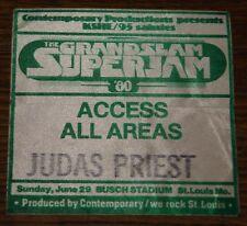 JUDAS PRIEST GRANDSLAM SUPERJAM ST LOUIS 1980 CLOTH PASS FROM DAVE HOLLAND