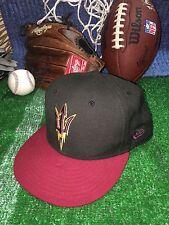 ASU Arizona State University New Era 5950 Fitted Hat Cap Size 7 1/8  h12
