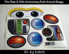 New Replacement Decals Stickers fits New Step 2 Push Around Buggy 10th Ann. Boy