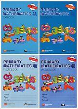 Singapore Primary Math Grade 4 Kit (US ED)-Workbook/Textbook 4A+4B-FREE EXP SHIP