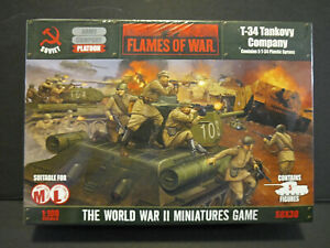 Flames of War Soviet WWII T-34 Tankovy Company. Contains 5 Tanks. [SBX30]