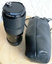 ALBINAR ADG 80-200 mm 1:3.9 Macro Zoom lens with filter and soft case.