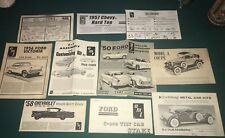 10 Vintage Amt And Various Car Instruction Manuals