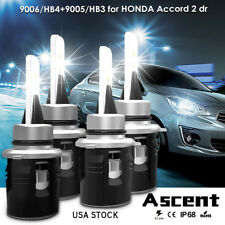 LED Headlight Kit 9005 9006 Bulbs For Honda Accord 2dr. 2007-2002 Hi/Low Beam