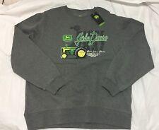 NWT JOHN DEERE-Men's(Nothing Runs Like a Deere)Smoke Gray Sweater-Size L
