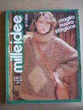 MILLEIDEE n°9 1981 - rivista di moda e lavori femminili  [C53]