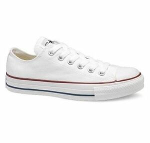 NEW Converse All Star Ox Trainers Canvas White Black UK Size 3 4 5 6 7 8 9 10 11